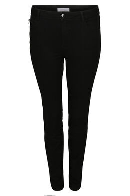 Pantalon slim extra long, Noir