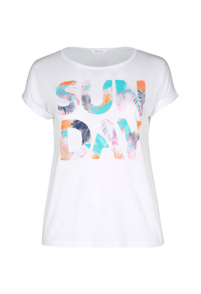 T-shirt 'Sun day' - Wit