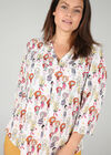 "Blouse met print ""Madames"", Multicolor"