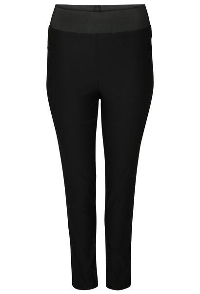 Pantalon de ville taille élastiquée - Noir
