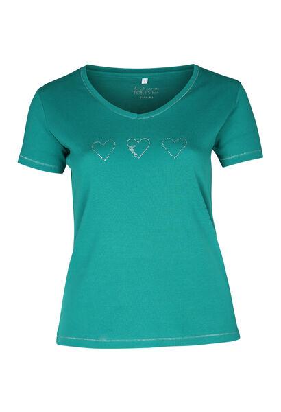 T-shirt coton bio - emeraude