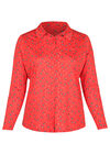 T-shirt in tricot met gitaarprint, Rood