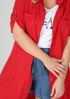 Jurk met hemdskraag in lyocell, Rood