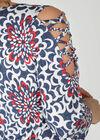 Tunique t-shirt manches avec croisillons, Denim
