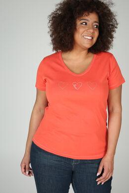 T-shirt coton bio, Orange