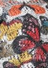 Pull à effet double imprimé papillons, multicolor