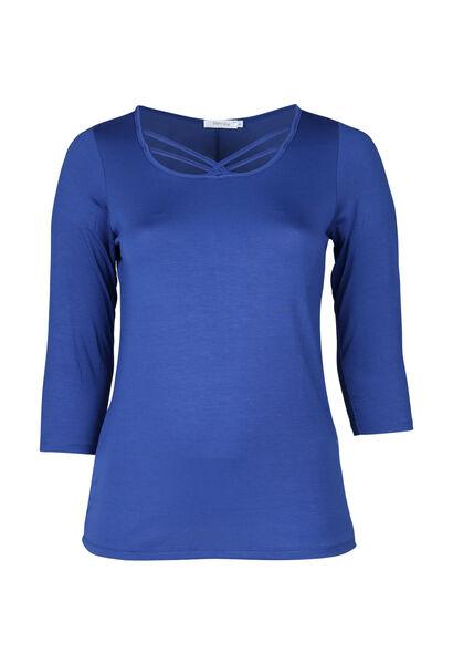T-shirt liens croisés devant - Bleu Bic