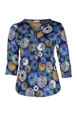 T-shirt imprimé ronds, Bleu Bic