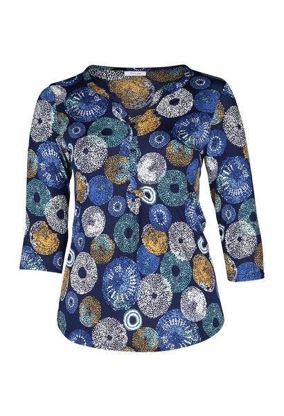 T-shirt imprimé ronds - Bleu Bic