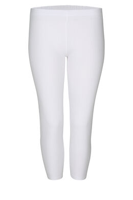 Legging 3/4 en coton bio, Blanc