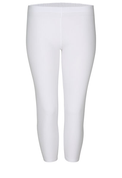 Legging 3/4 en coton bio - Blanc