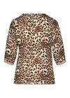 Blouse imprimé léopard, Camel