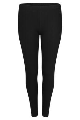 Legging long en coton bio, Noir