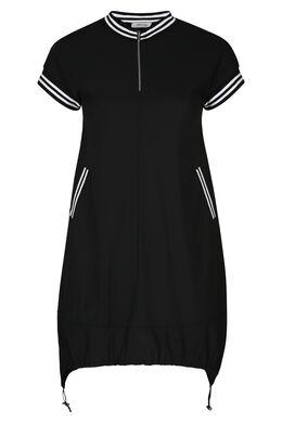 Tuniekjurk in sportswear stijl, Zwart