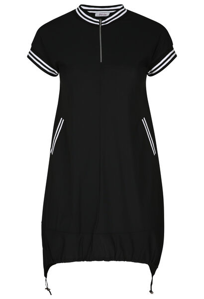 Tuniekjurk in sportswear stijl - Zwart