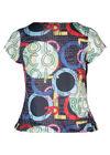 T-shirt maille froide col bénitier, multicolor