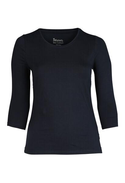 T-shirt van biokatoen - Marineblauw