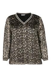 Blouse voile imprimé léopard