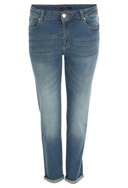 7/8-jeans met omslagen en scheuren - Denim