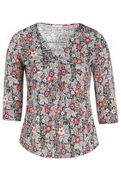 T-shirt maille froide imprimé fleuri