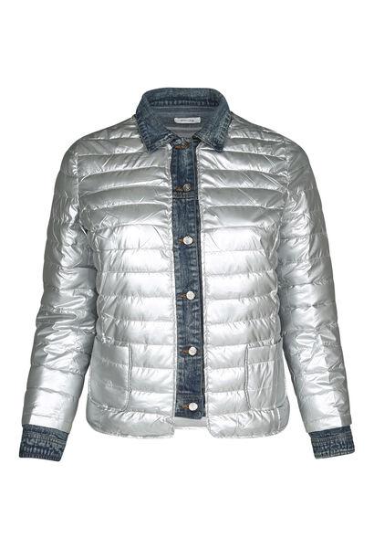 Donsjekker met jeans - Zilver