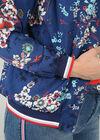 Bomberjack met bloemetjes, Marineblauw