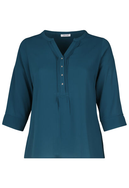 Blouse unie col boutons - Canard