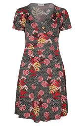 Robe imprimé fleurs tropicales