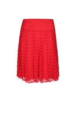 Rok in kanttricot, Rood