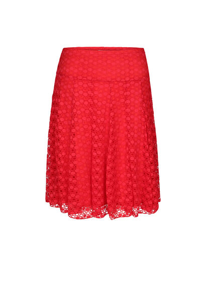 Rok in kanttricot - Rood