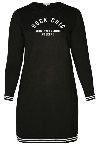 Sweaterjurk 'Rock Chic' - Zwart