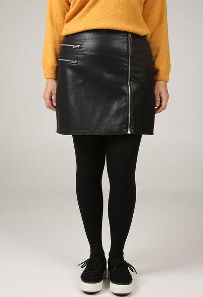 Jupe courte similicuir détails zip - Noir - Paprika b943c76f54a