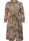 Robe longue imprimé léopard, Camel