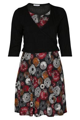 Set bestaande uit een jurk en cardigan, Rood