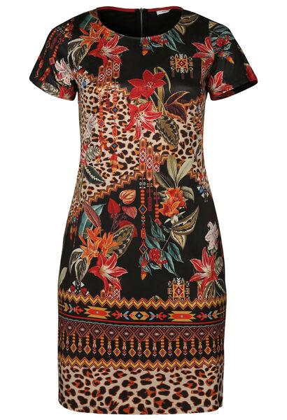 Robe suédine imprimée - multicolor