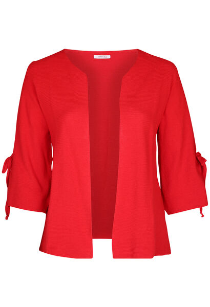 Cardigan manches larges avec noeuds - Rouge