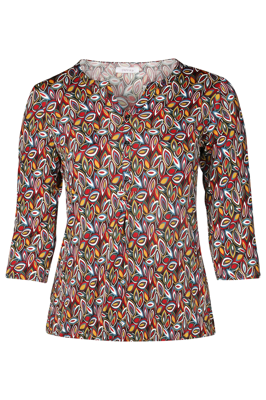 T Paprika Met Kleine Multicolor Shirt Bladprint JuFc5Tl13K
