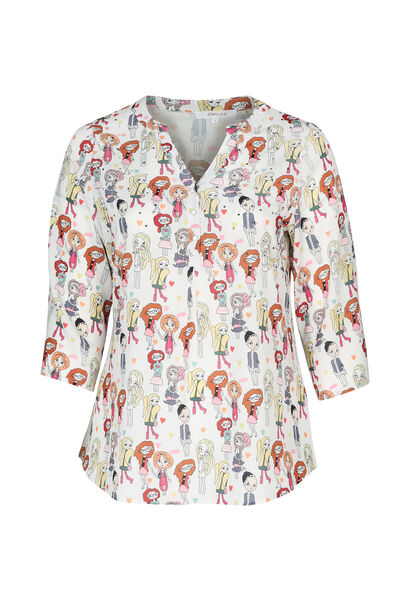 "Blouse met print ""Madames"" - Multicolor"