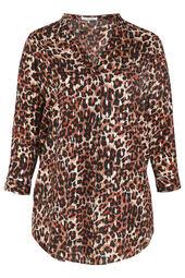 Robe tunique imprimé léopard et foil doré