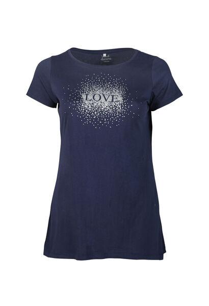 Long t-shirt imprimé love - Marine