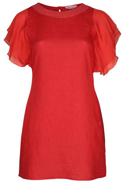 Linnen jurk - Oranje