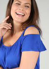 T-shirt bretelles élastiquées, Bleu Bic