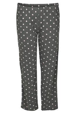 Pantalon de nuit imprimé pois, Gris Chine