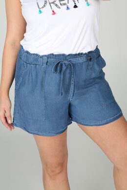 Short en lyocel effet jeans, Denim