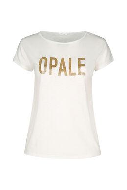 """T-shirt maille flammé """"Opale"""", Ecru"""