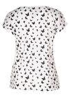 Katoenen T-shirt met vlinderprint, Wit