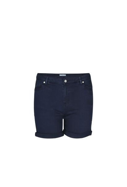 Katoenen short met 5 zakken - Marineblauw