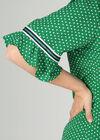 Blouse à pois manches volantées, Vert