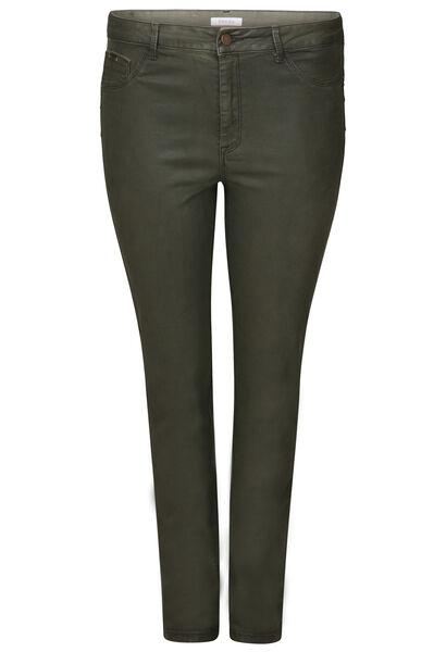 Pantalon slim enduit - Kaki