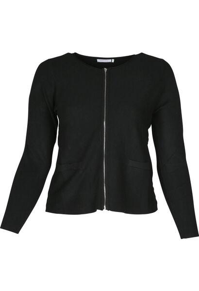 Gebreide cardigan - Zwart